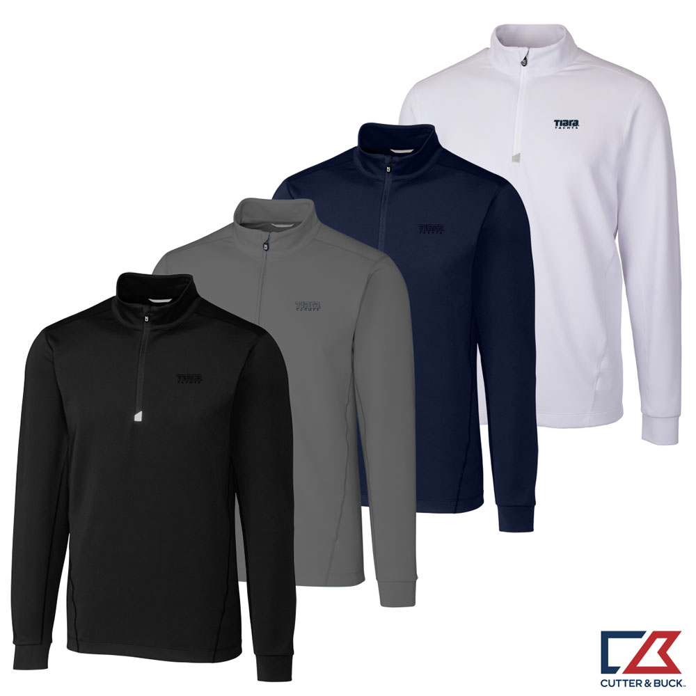 MEN'S CUTTER & BUCK TRAVERSE HALF ZIP