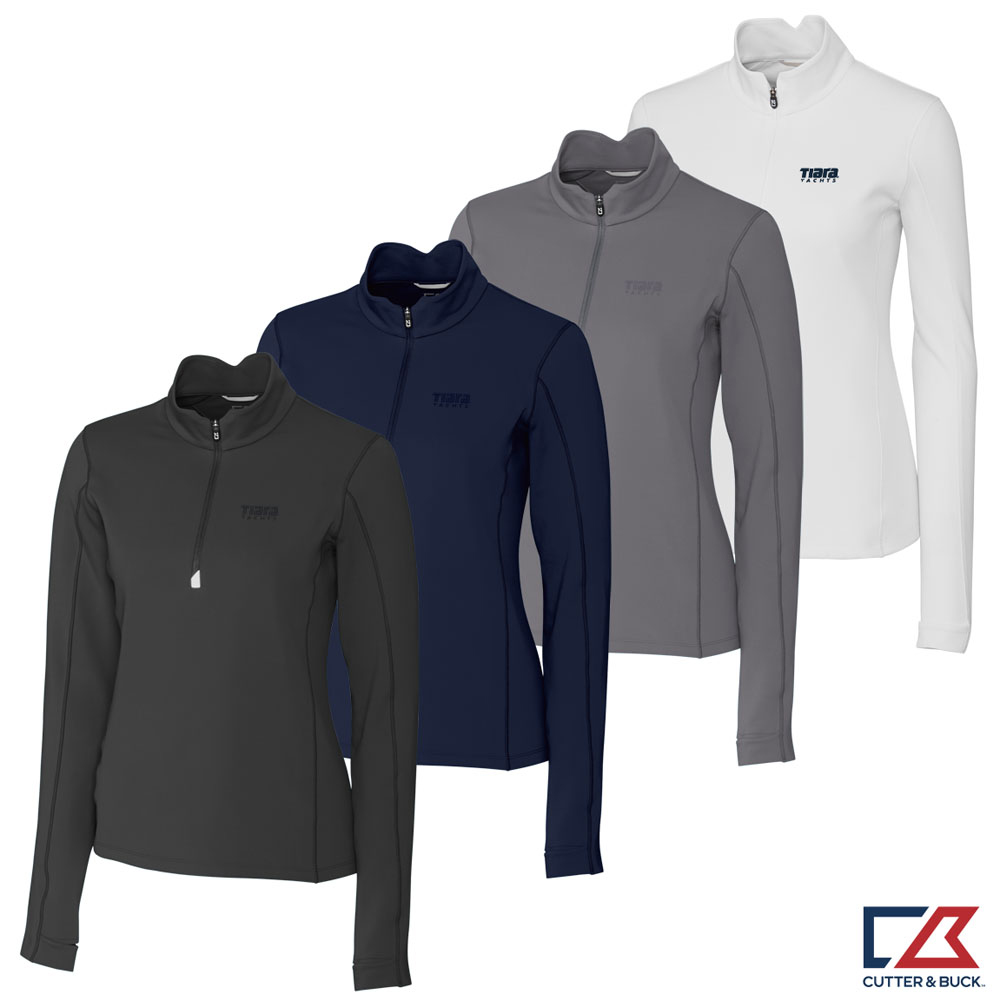 LADIES CUTTER & BUCK TRAVERSE HALF ZIP